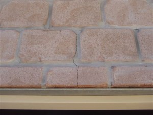 Building & Pest Inspection Gold Coast. Cracked brickwork on brand new home