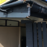 Damaged guttering and downpipes